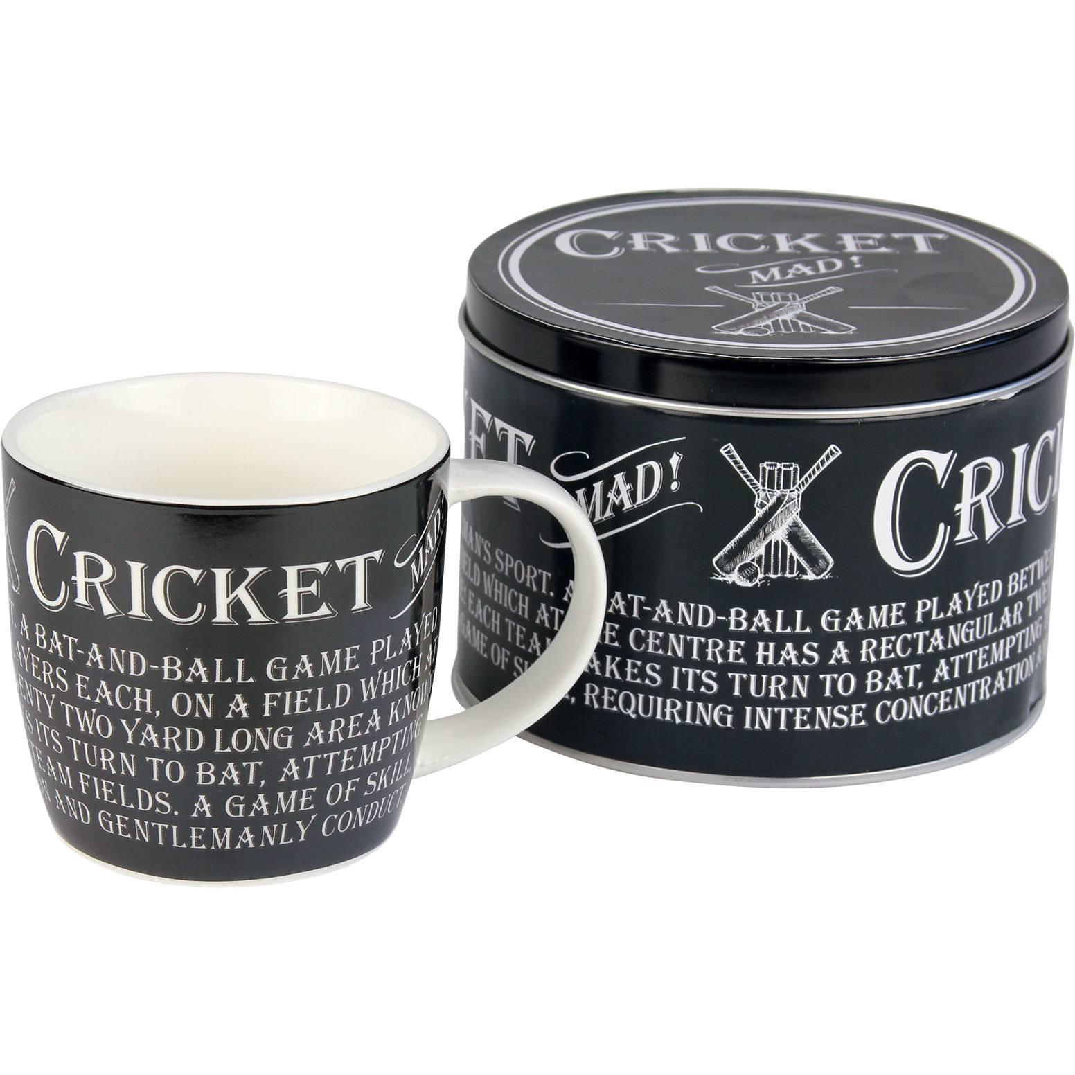cricket mug in a tin