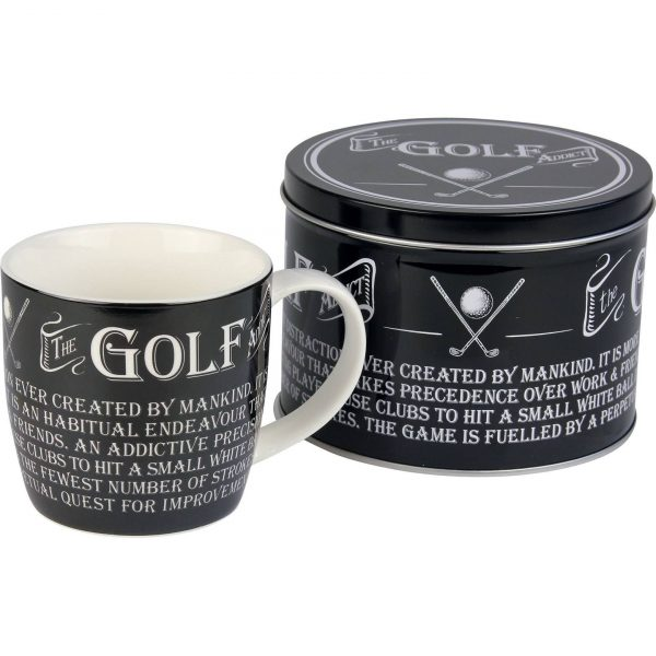 golf mug in a tin