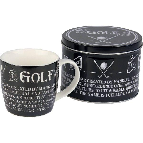 golf mug in a tin