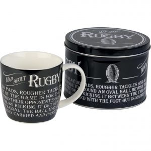 rugby mug in a tin