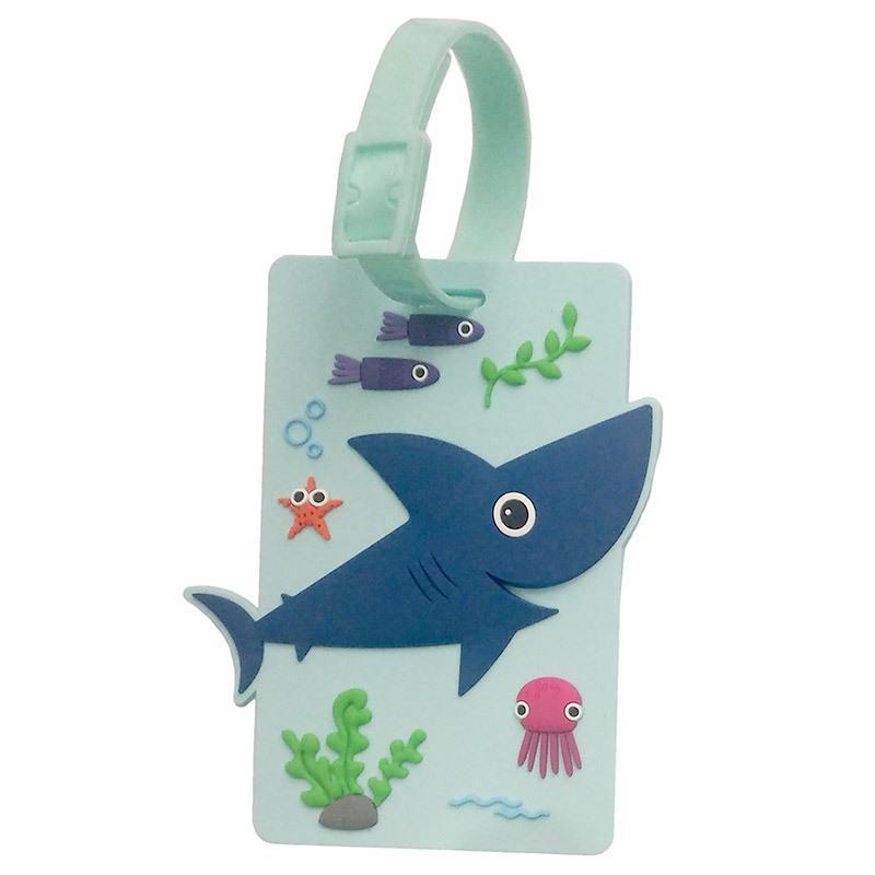 shark luggage tag