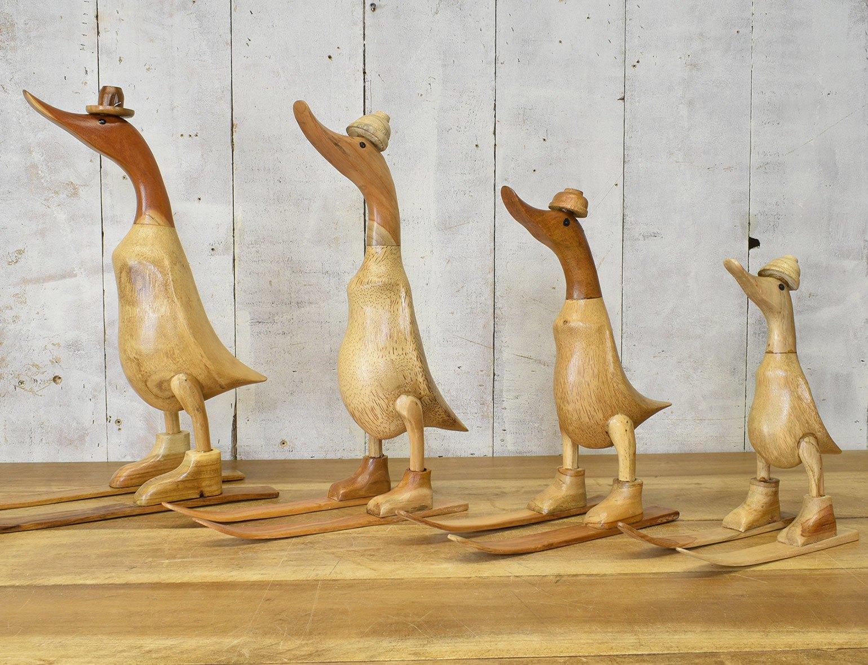 Natural Wood Skiing Duck