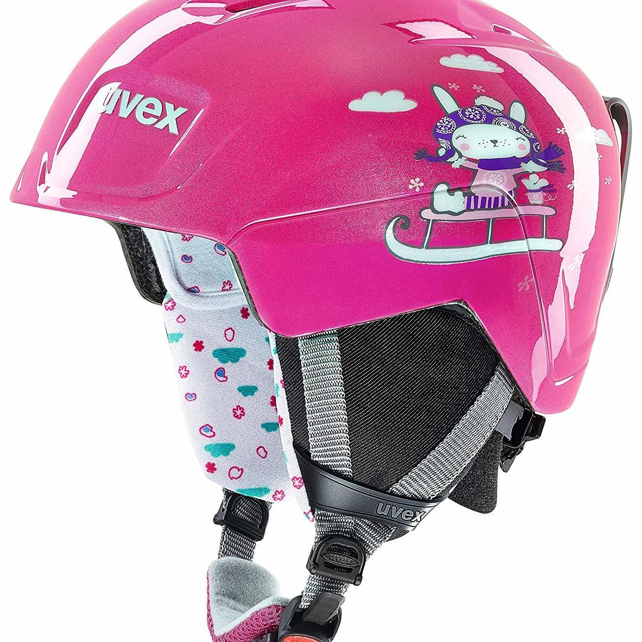 kids pink ski helmet