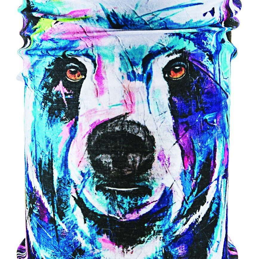 ski microfiber beautiful bear neck tube