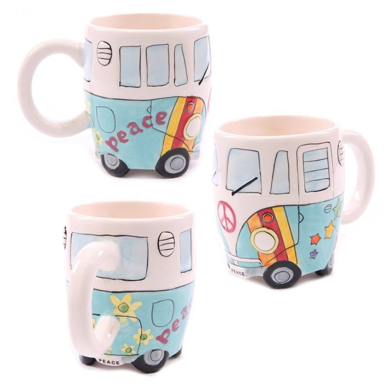 Campervan Peace Mug Blue