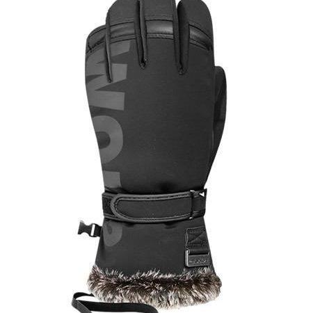black ski gloves