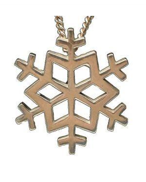 snowflake silver necklace