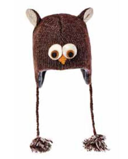 Owl knitted hat