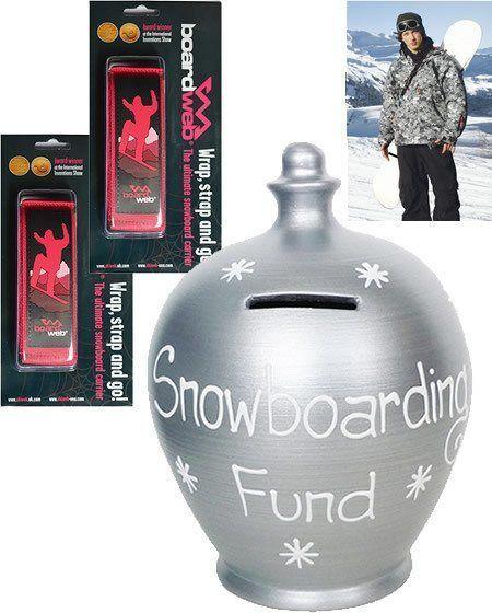 Snowboard Money Pot & 2 Snowboard Carriers-0