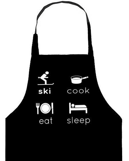 skiing gift - cooks apron