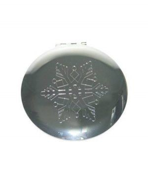 snowflake compact mirror